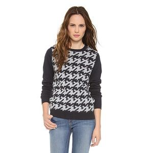 Joie Houndstooth chevelle cashmere sweater